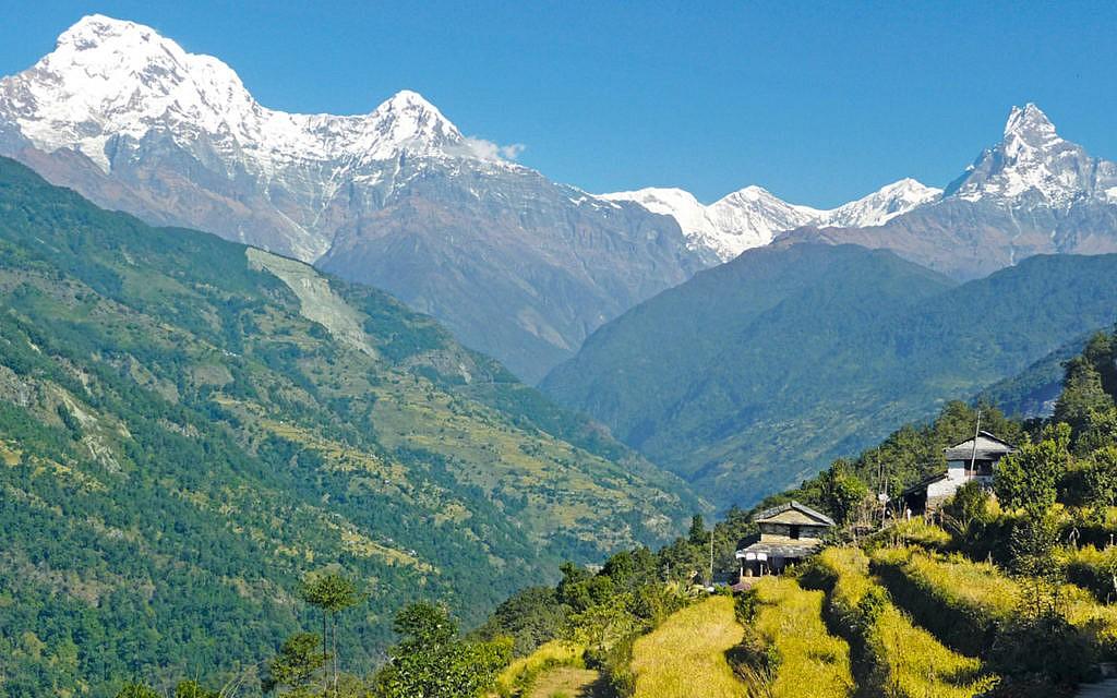 Die südliche Region Annapurna in Nepal