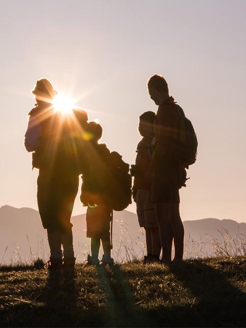 Südtirol Sonnenaufgang Wanderung