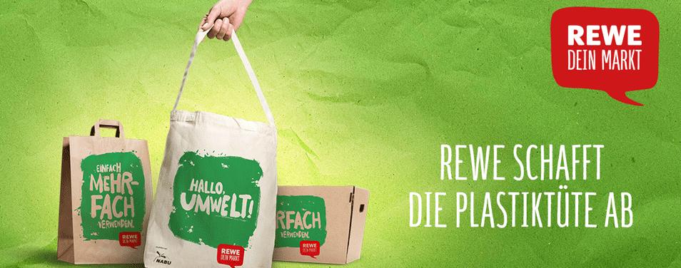 REWE schafft die Plastiktüte ab