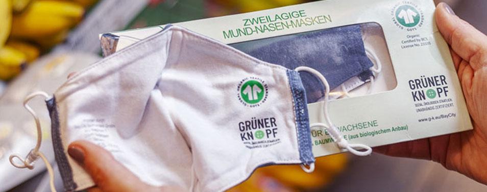 REWE News Masken Grüner Knopf