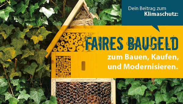 EthikBank faire Bank nachhaltige Bank Baufinanzierung