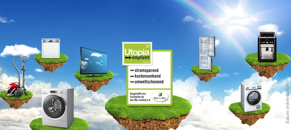 Utopia empfiehlt in Kooperation mit Saturn und dem Öko-Institut