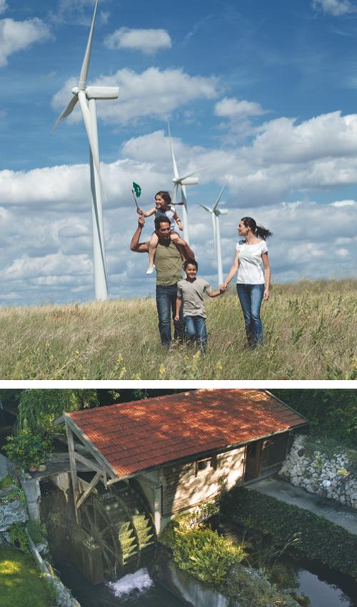 Windkraft und Wasserkraft