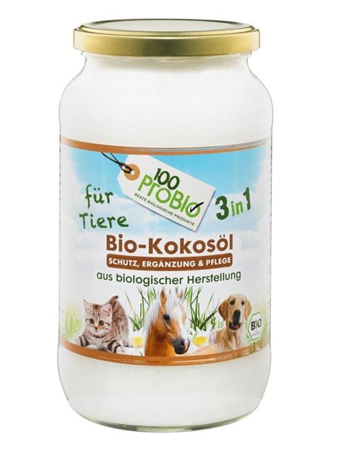 100probio kokosöl für Tiere natürlicher zeckenschutz haustier pflege