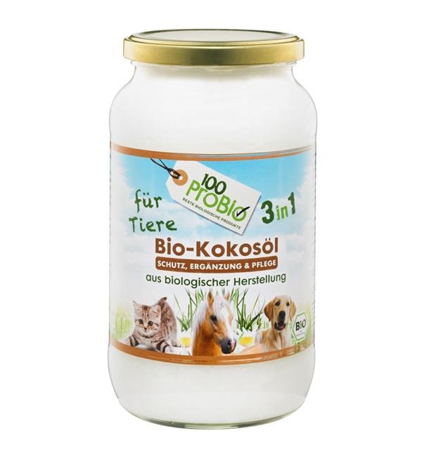 1000ml kokosöl für Tiere natürlicher zeckenschutz haustier pflege