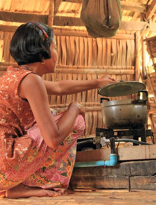 Mini Biogasanlage in Kambodscha: ermöglicht durch Polarsternkunden