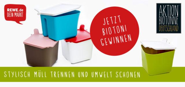 REWE verlost jetzt 20 BiOTONis für mehr saubere Mülltrennung – mach mit!