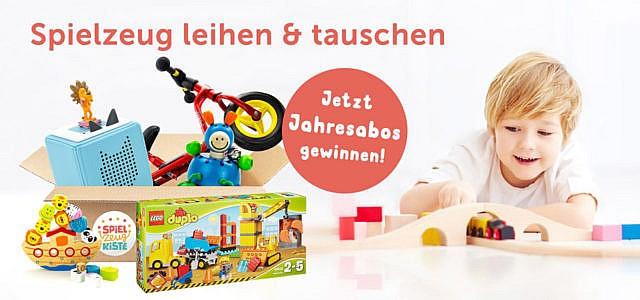 gewinne ein Jahresabo der Spielzeugkiste für Kinder von 0 bis 12 Jahren
