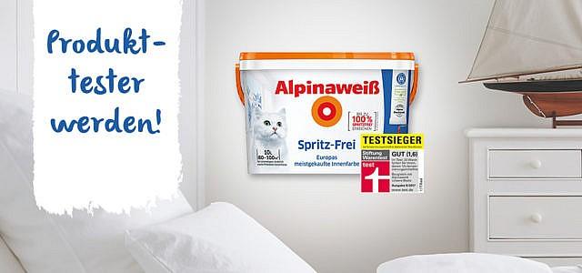 50 Produkttester gesucht: Bewirb dich und teste das Alpinaweiß Spritz-Frei!