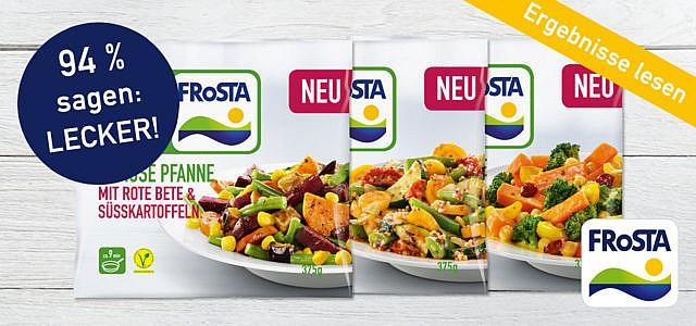 FRoSTA Gemüse Pfannen: Lies hier die leckeren Ergebnisse!