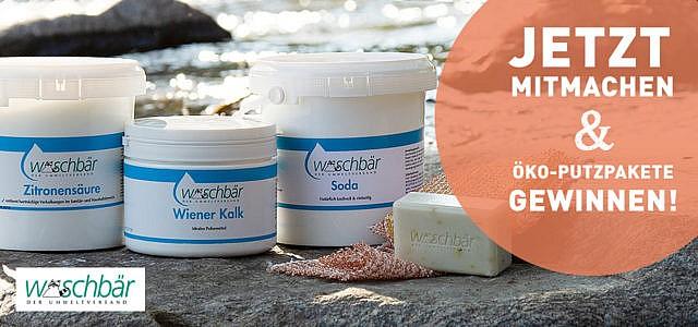 Jetzt mitmachen und Öko-Putzpakete von Waschbär gewinnen!