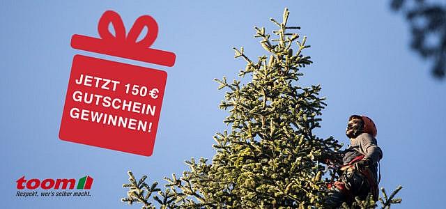 toom Gewinnspiel faires Weihnachten Weihnachtsbäume jetzt Gutschein gewinnen