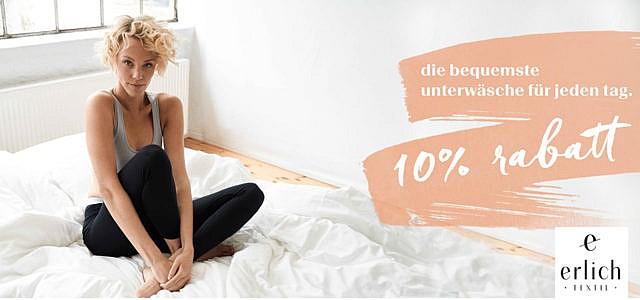 10% Rabatt auf nachhaltige Wäsche sichern