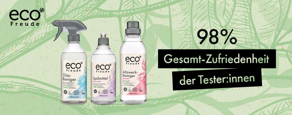 Produkttest ROSSMANN eco Freude Ergebnisse