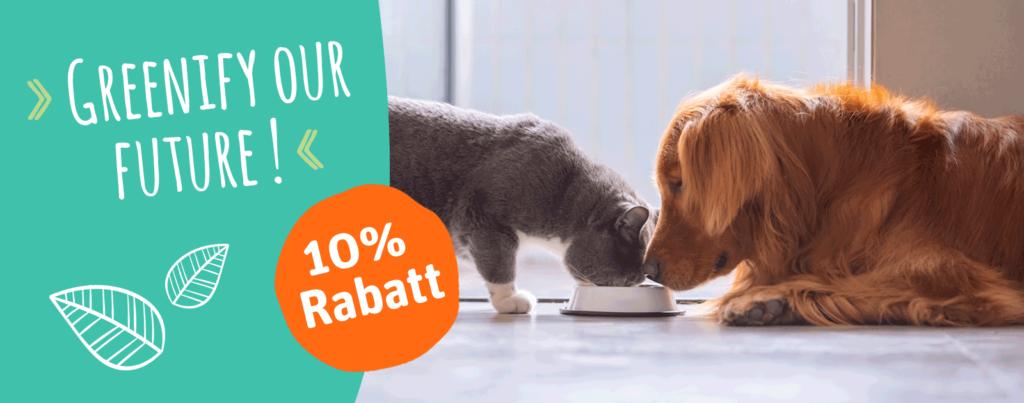 Green Petfood Rabatt nachhaltiges Katzenfutter nachhaltiges Hundefutter