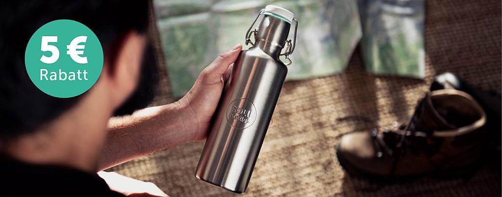 soulbottles nachhaltige Trinkflasche aus Stahl