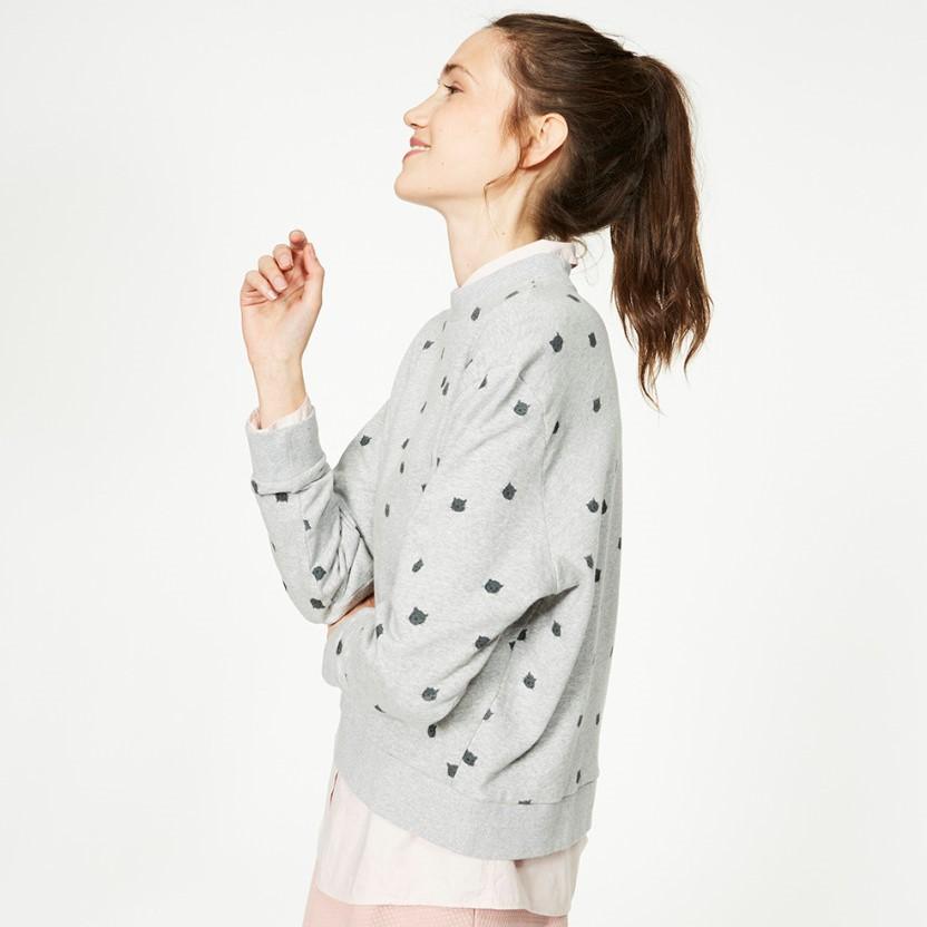 Senida Kitties Sweatshirt aus Bio-Baumwolle