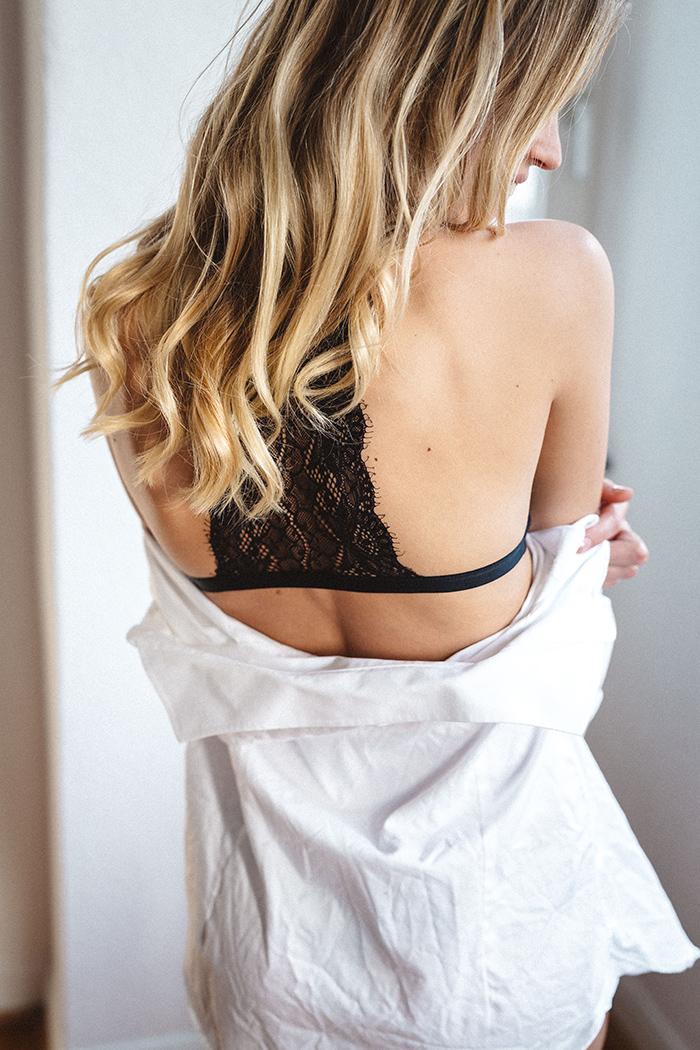 schwarze Spitzen unterwasche von erlich Textil
