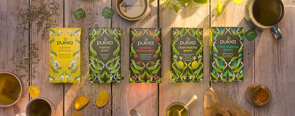 Bio-Kräuter für ganzheitliches Wohlbefinden von Pukka