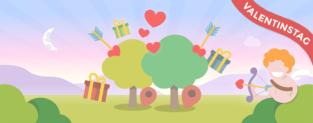 Pflanze einen Baum zu Valentinstag