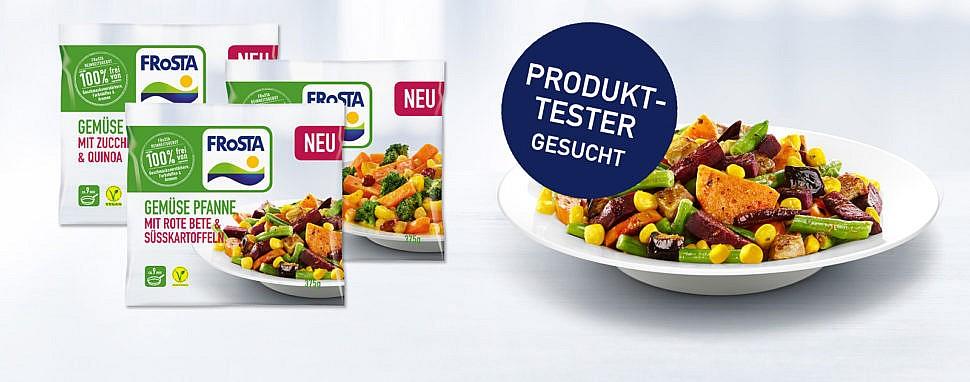 Produttester gesucht: Probiere die 3 neuen Gemüse Pfannen von FRoSTA!