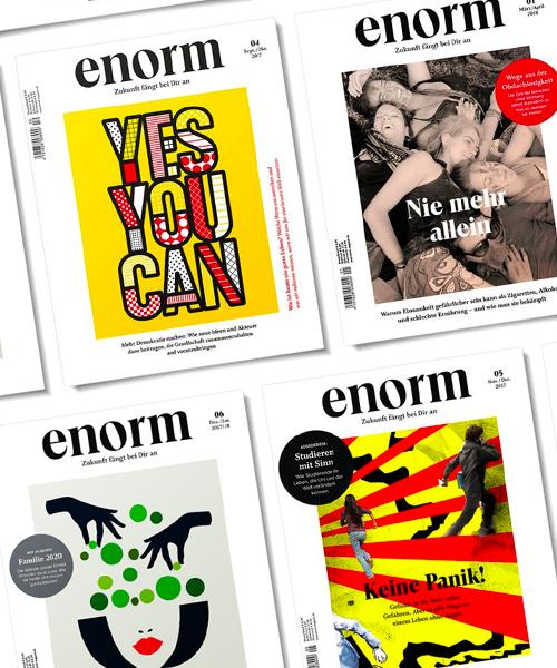 enorm Magazin: enorm Abo mit Geschenk