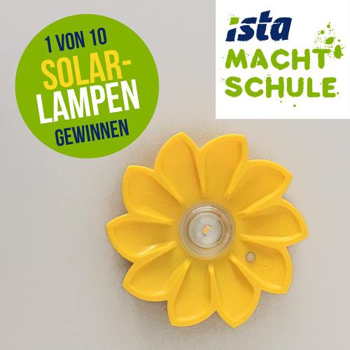 ista Gewinnspiel - gewinne mit ista macht schule eine von 10 Solarlampen
