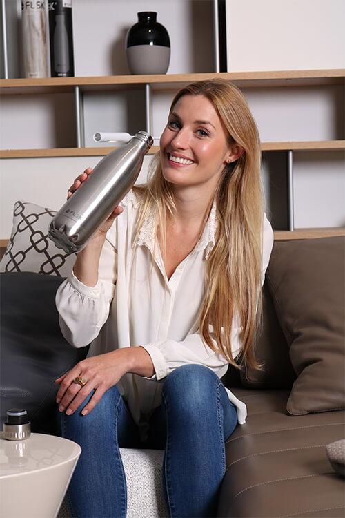 Die Edelstahl Trinkflaschen von FLSK gibt es jetzt mit 10% Rabatt - eine tolle Geschenkidee!