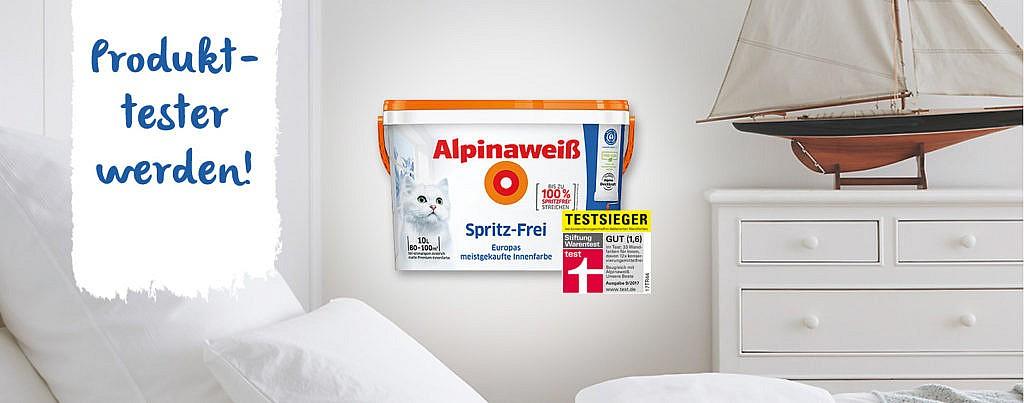 50 Produkttester gesucht: Alpinaweiß Spritz-Frei!
