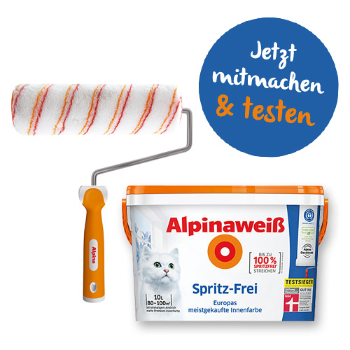 Bewirb dich und teste das Alpinaweiß Spritz-Frei!