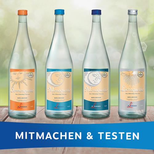 Teste jetzt und finde dein Lieblingswasser von St. Leonhards