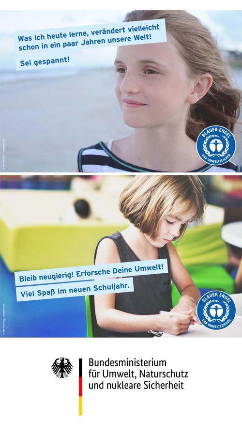 Starte richtig in das neue Schuljahr - mit Produkten mit dem Blauen Engel Umweltzeichen