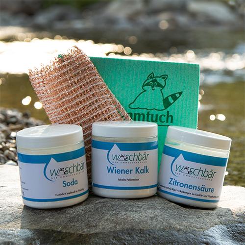 Waschbär entwickelt eine neue Öko-Putzkiste. Umweltfreundliche Reinigungsmittel - ohne Chemie. Gewinne 1 von 100 Waschbär-Öko-Putzpaketen.