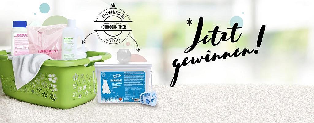 Gewinnspiel mit HAKAWERK: Waschmittel nachhaltiges Waschen Neurodermitiker Allergiker