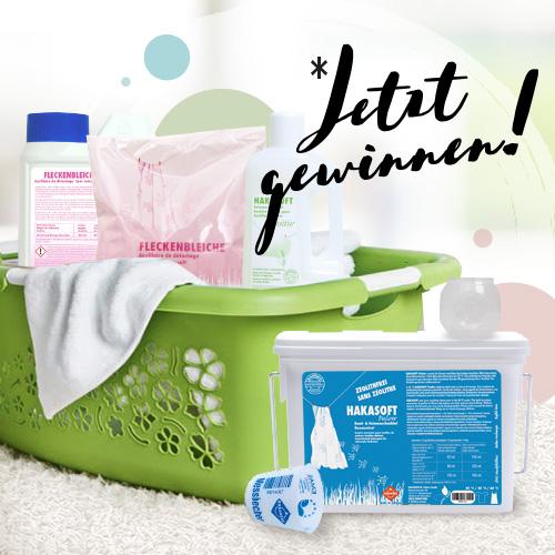 Gewinnspiel mit HAKAWERK Waschmittel für Allergiker und Neurodermitiker