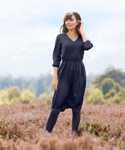 Green Fashion Kleid nachhaltige Mode fair Bio-Baumwolle Webkleid Tchibo