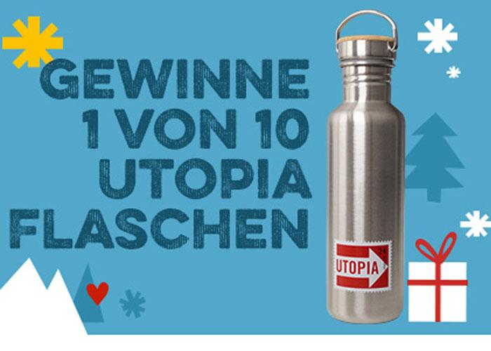 Utopia Trinkflasche Gewinnspiel Adventskalender Weihnachten