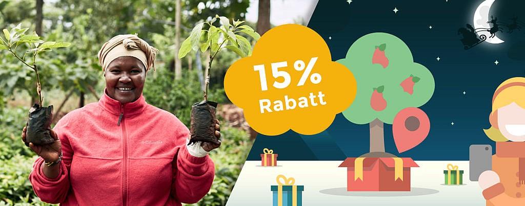 Treedom sinnvolles Weihnachtsgeschenk Baum schenken CO2