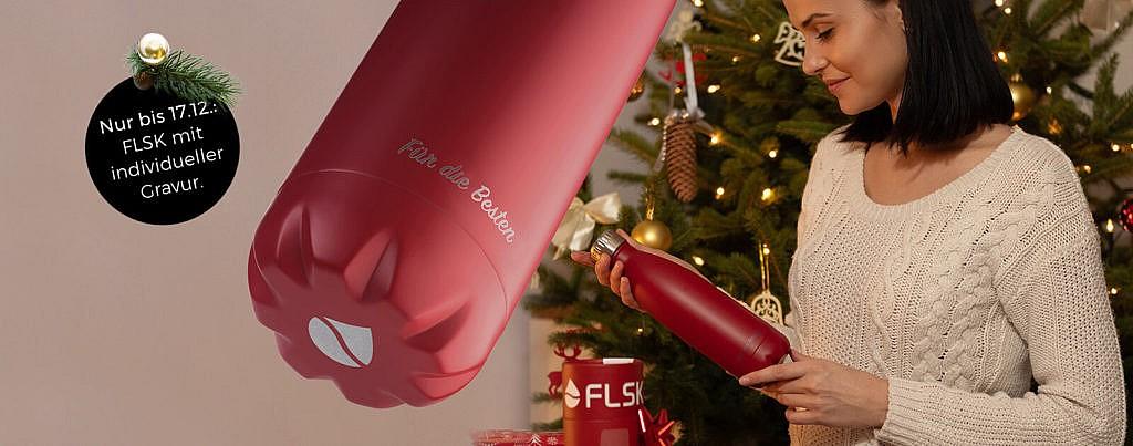 FLSK Gratis Gravur auf Edelstahl Trinkflasche