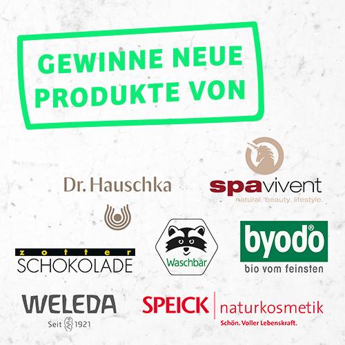 Gewinne nachhaltige Produkte in der Neuheiten 2019 Aktion Gewinnspiel