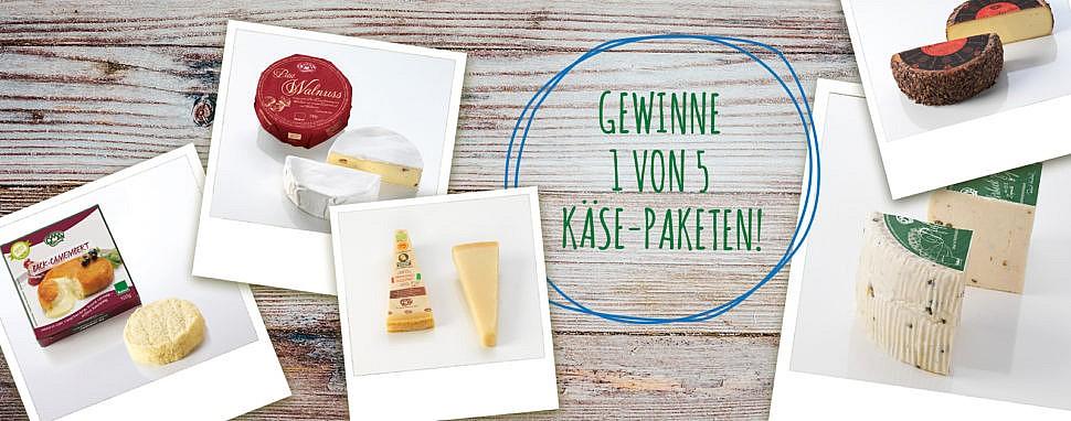 Bio Käse-Pakete gewinnen gewinnspiel ÖMA