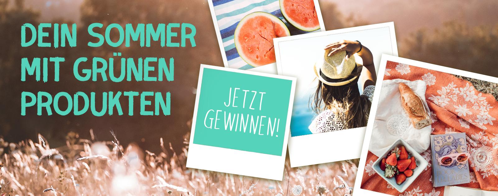 Sommer Gewinnspiel grüne Produkte entdecken und gewinnen