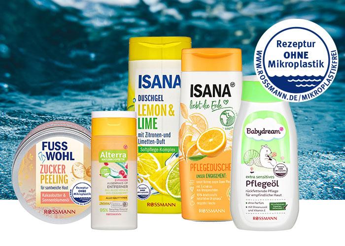 Rossmann Nachhaltigkeit nachhaltige Produktbox gewinnen ohne Mikroplastik