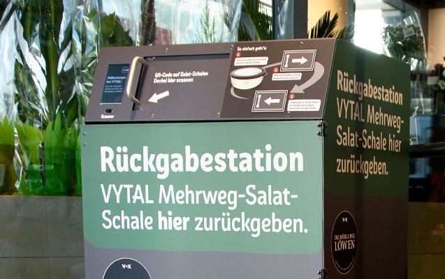 Tester Testerin gesucht Mehrweg-Salatschalen Vytal Rückgabestation