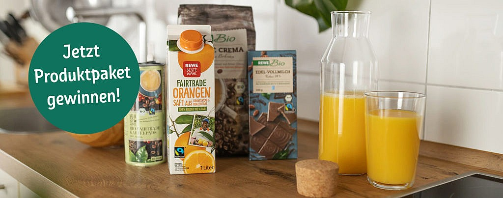 REWE Gewinnspiel PENNY Produktpaket gewinnen Fairtrade fairer Handel