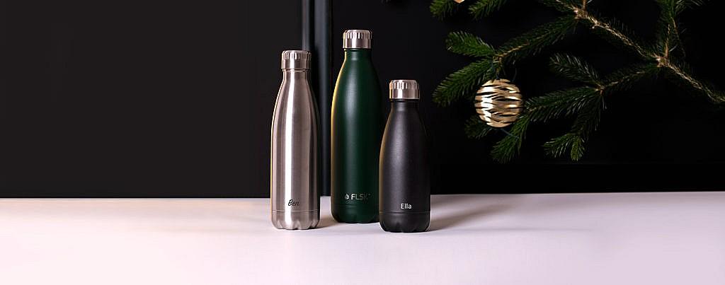 FLSK Edelstahl Trinkflasche mit gratis Gravur bestellen