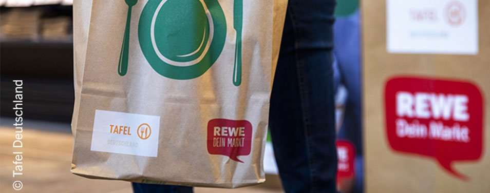 REWE Group News Tafeltüten Aktion Lebensmittel spenden
