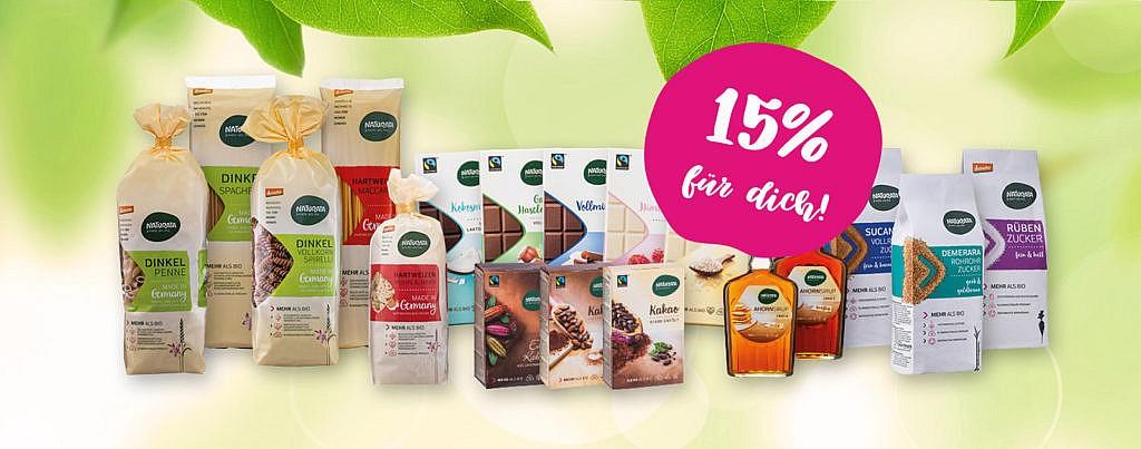 Naturata 15% Rabatt klimaneutrale Produkte Rabattcode