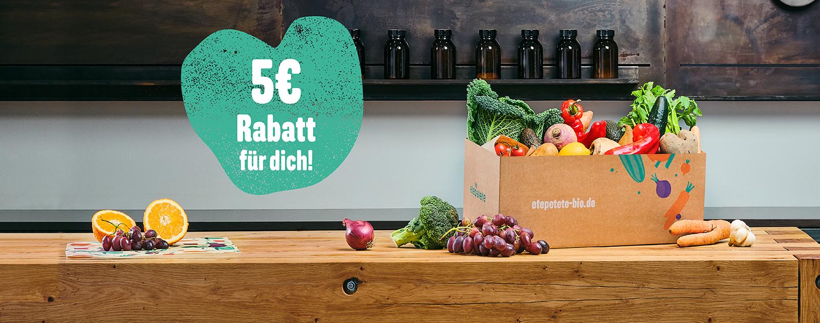 etepetete: Jetzt Lebensmittel-Retter*in werden und 5€ Rabatt sichern!