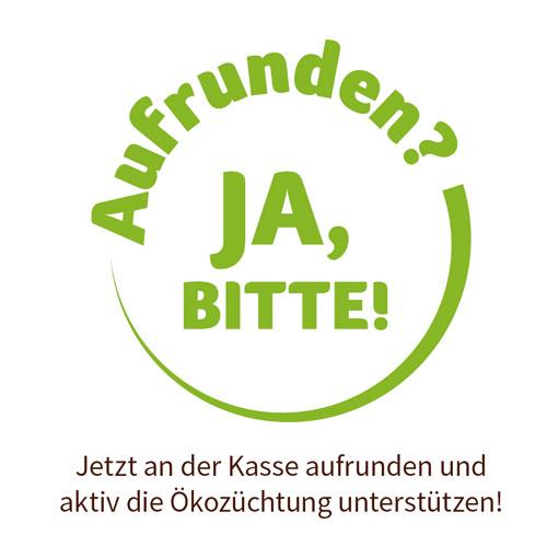 aufrunden ja bitte aktion rettet den Brokkoli denns biomarkt Ökozüchtung